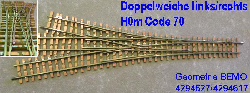 Doppelweiche H0m Code 70