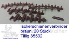 Isolierverbinder  Tillig braun 20 Stück