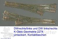 DW asymetrisch Geometrie Märklin 2274