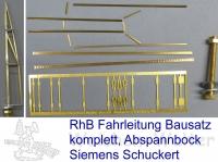 H0m RhB Abspannbock  Bausatz