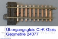 Übergangsgleis C - K / K-Gleis Geometrie