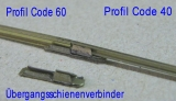 6 Rail-Joiners K-Track code 100 to code 83