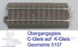 Übergangsgleis C - M / C+M-Gleis Geometrie