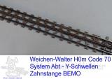 Y - Zahnstangenflexgleis Abt/BEMO Bausatz 1:87