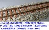 3rail-flextrack steel ties code83 large pack