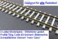 3L-Flexgleis Betonschwellen Code 83 Großpackung