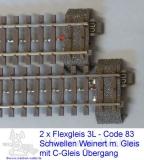Flexgleis Code 83 mit C-Gleis Anschluß