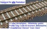 Flexgleis Code 83 mit C-Gleis Anschluß 50 cm