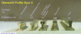 Schienenprofil Spur 0 Code 137 Hassler 3,5mm