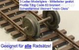 3L-Flexgleis Holzschwellen Code 83 Fertiggleis