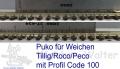 Weichenset  Pukostreifen Tillig/Roco/Peco